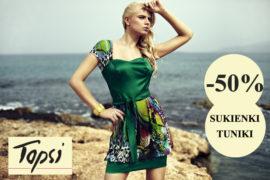 25d228622f65c Sukienki i tuniki letnie 50 % taniej w Topsi | MODO